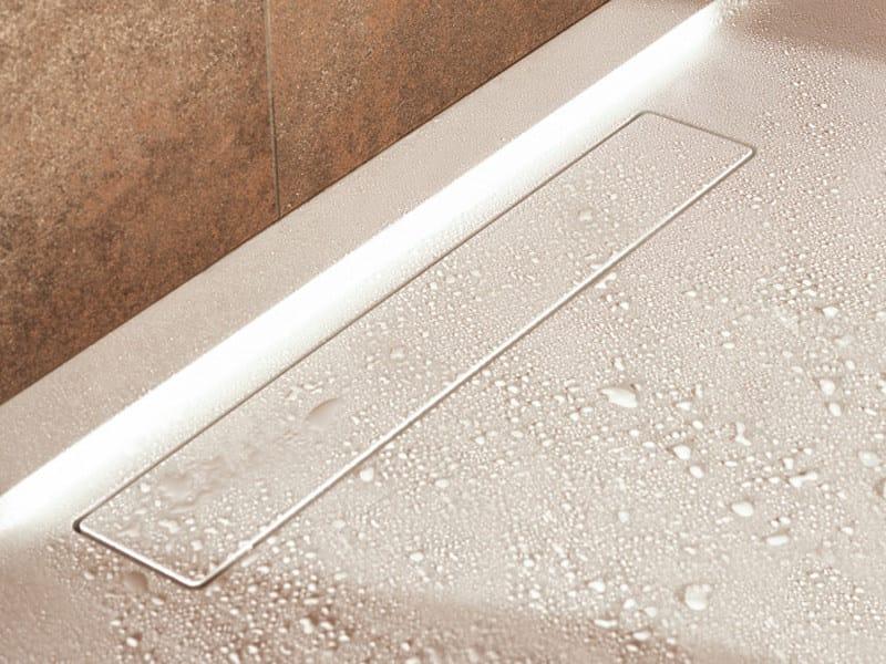 Piatto doccia filo pavimento in quaryl squaro piatto - Piatto doccia pavimento ...