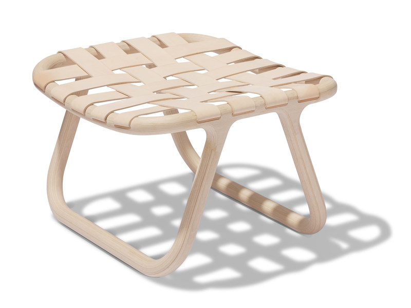 Wooden tanned leather stool CAMPING | Stool - Normann Copenhagen