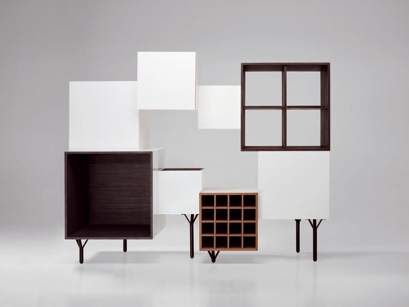 Freestanding sectional bookcase FREE PORT - BD Barcelona Design