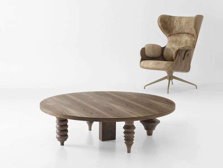 Round MDF coffee table MULTILEG | MDF coffee table by BD Barcelona Design