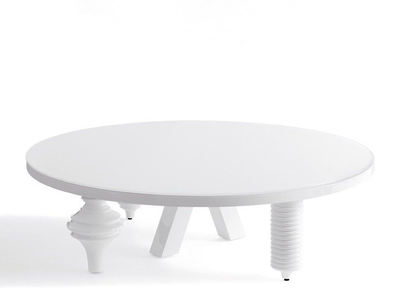 Lacquered round coffee table for living room MULTILEG | Lacquered coffee table - BD Barcelona Design