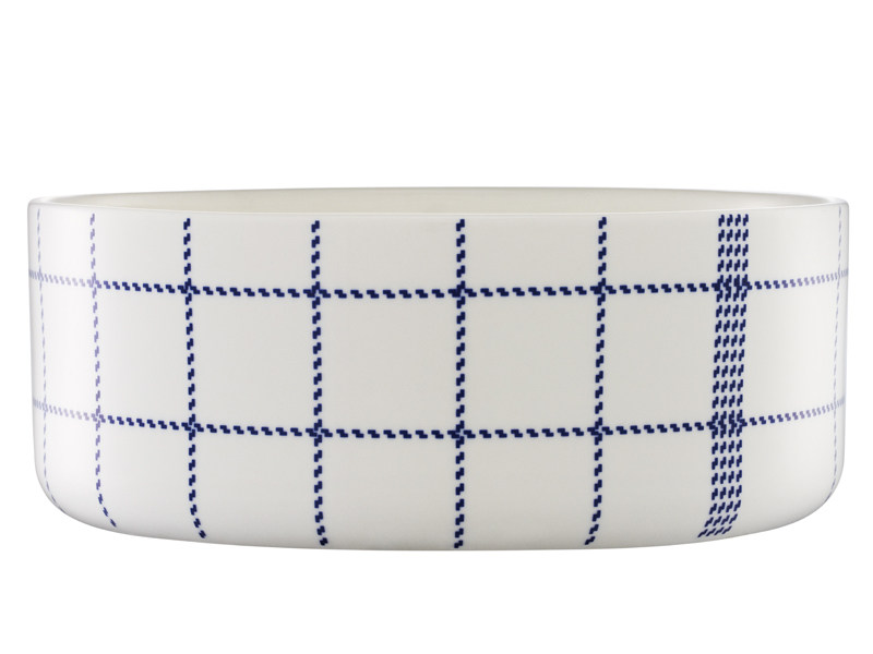 Ceramic serving bowl MORMOR BLUE BOWL by Normann Copenhagen