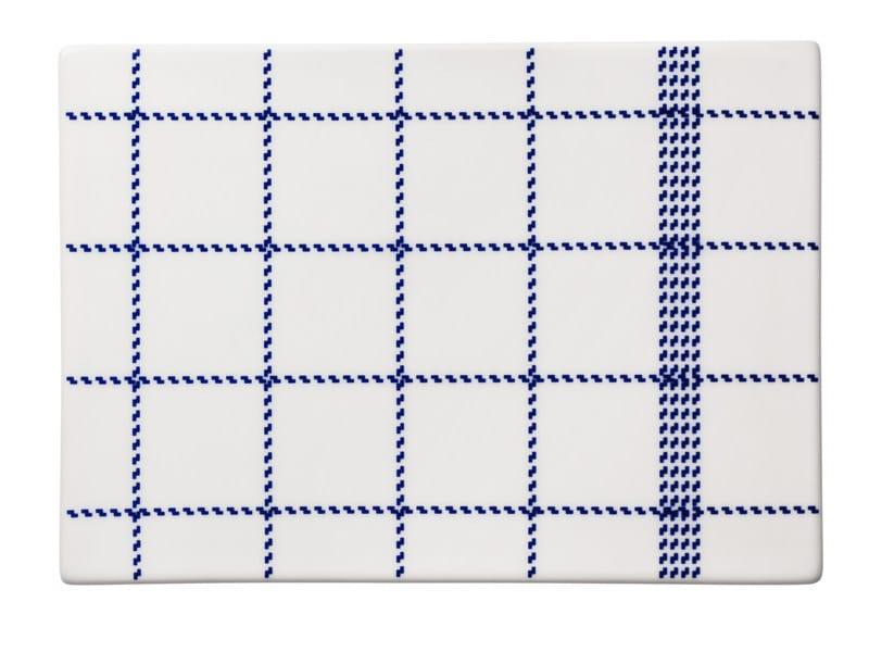 Ceramic chopping board MORMOR BLUE BUTTERING BOARD - Normann Copenhagen