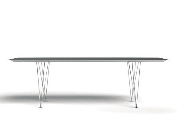 Rectangular aluminium dining table TABLE B | Aluminium table - BD Barcelona Design