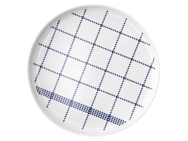 Ceramic plate MORMOR BLUE PLATE - Normann Copenhagen