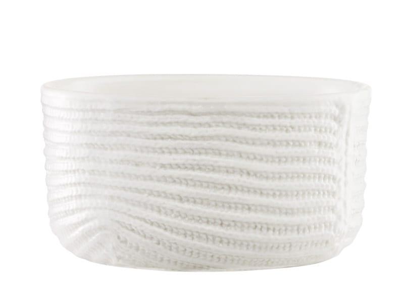 Ceramic serving bowl MORMOR RIBBED BOWL - Normann Copenhagen