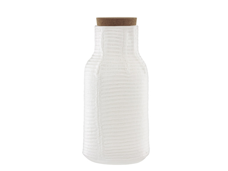 Ceramic jug MORMOR RIBBED CARAFE by Normann Copenhagen