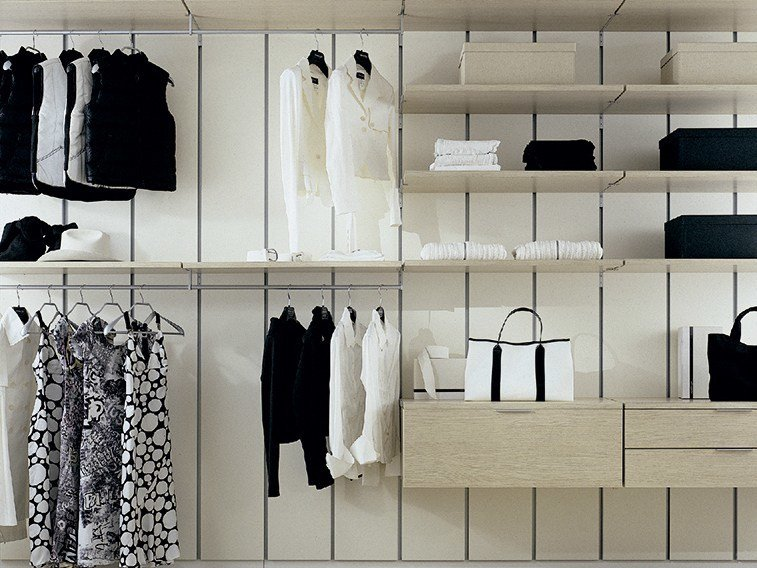 Sectional walk-in wardrobe MYWALL by MOVI ITALIA