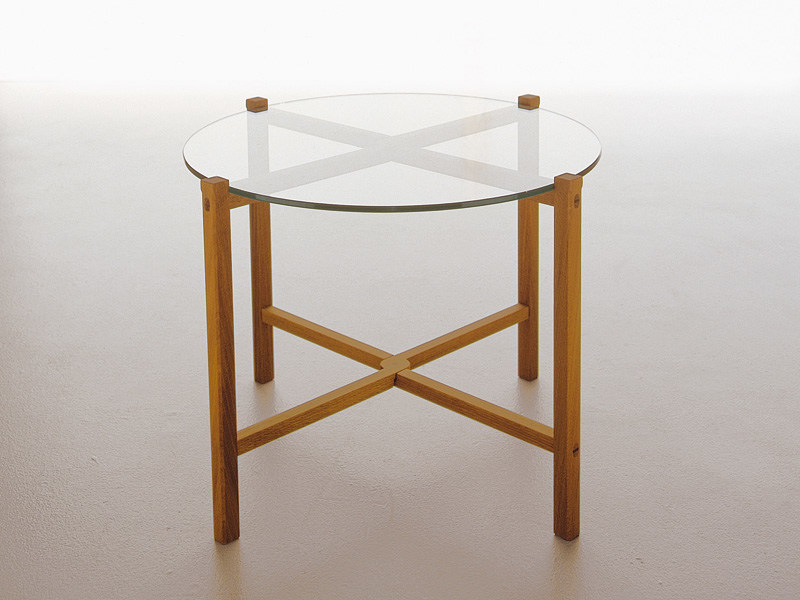 Low folding round glass coffee table kaskad by karl - Folding glass coffee table ...