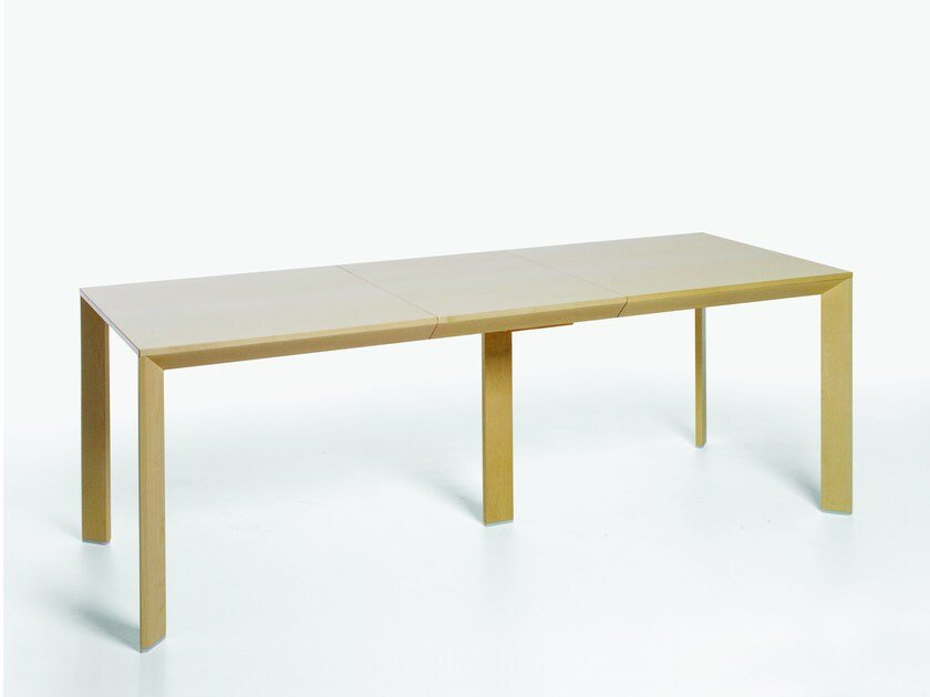Dining rectangular wood veneer table