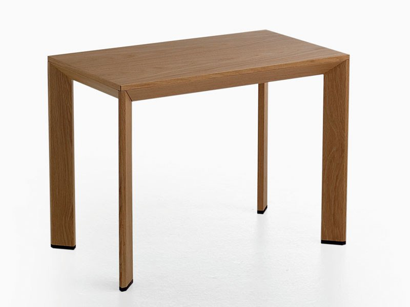 Kitchen rectangular wood veneer table - Tavolo da cucina rettangolare in legno impiallacciato