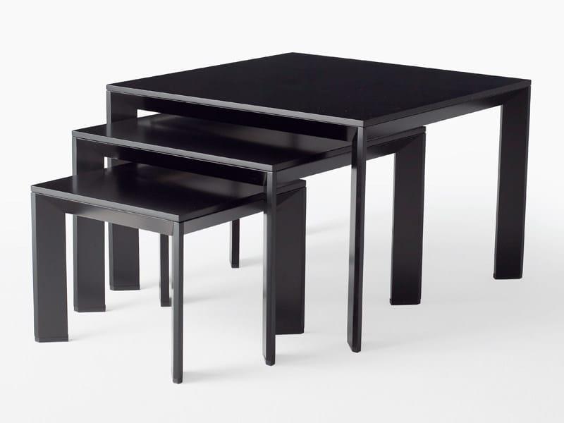 Square wood veneer coffee table CHAMFER   Coffee table - Karl Andersson & Söner