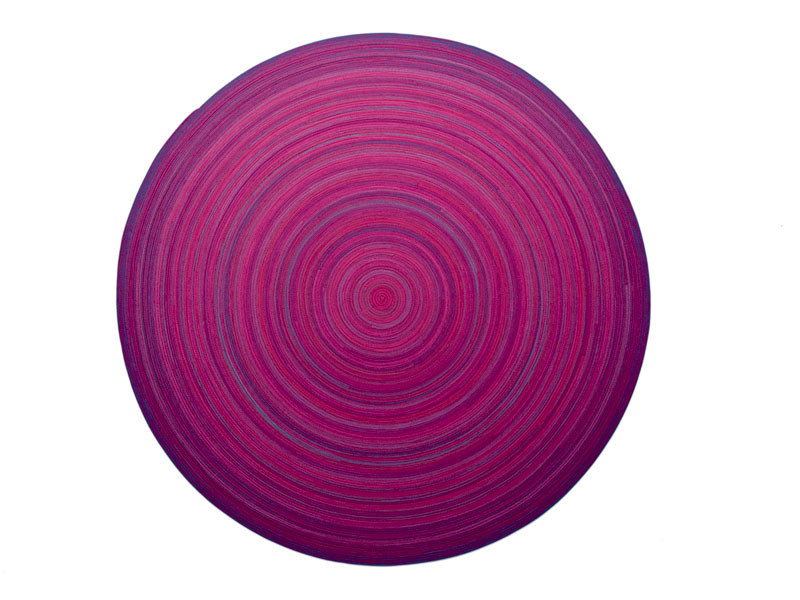 Patterned wool rug ZOE | Round rug - Paola Lenti