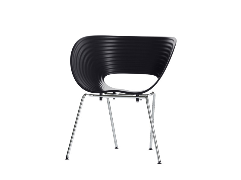 Stackable polypropylene chair TOM VAC - Vitra
