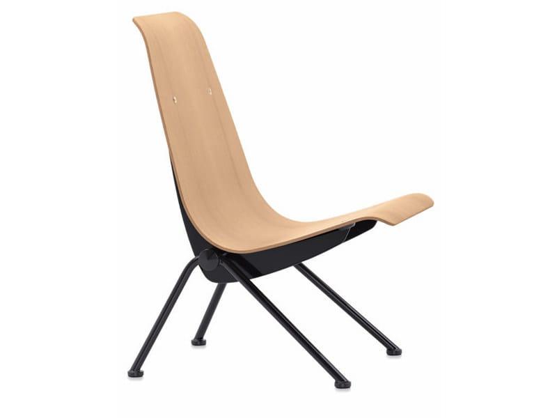 silla en acero antony by vitra
