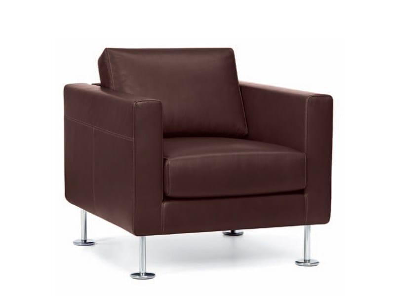 Upholstered leather armchair PARK ARMCHAIR - Vitra
