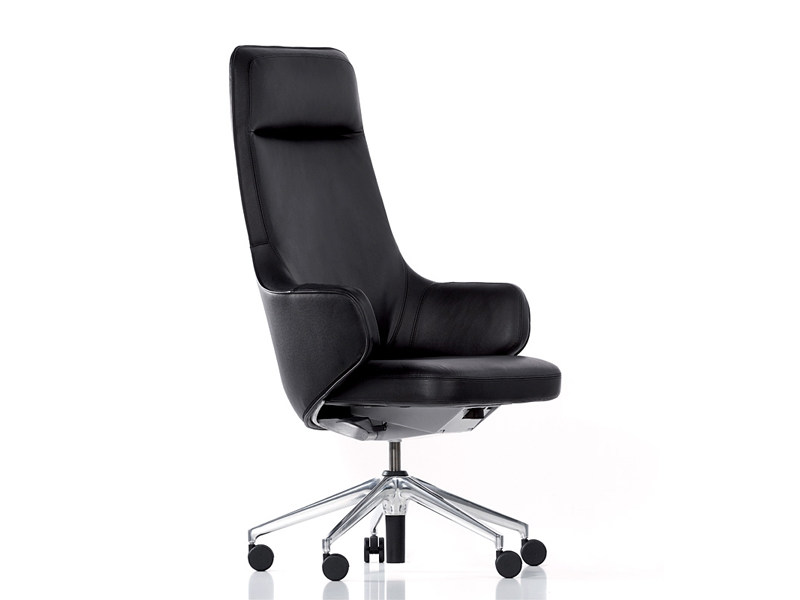 Leather executive chair SKAPE HIGHBACK - Vitra