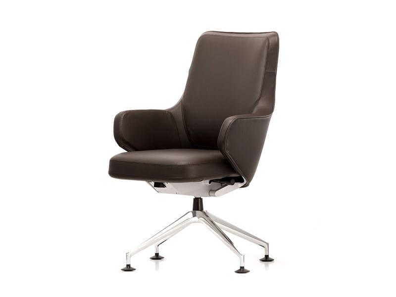 Leather executive chair SKAPE LOWBACK - Vitra