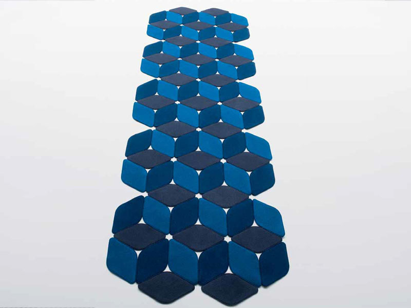 Patterned felt rug KALEIDOSCOPE by Paola Lenti