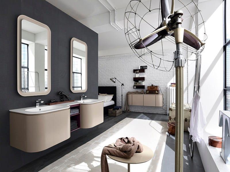 Double vanity unit SUEDE 110/111 - Cerasa