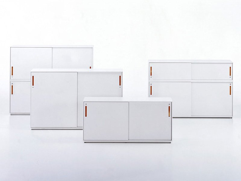 Low MDF office storage unit with lock ACSU - Vitra