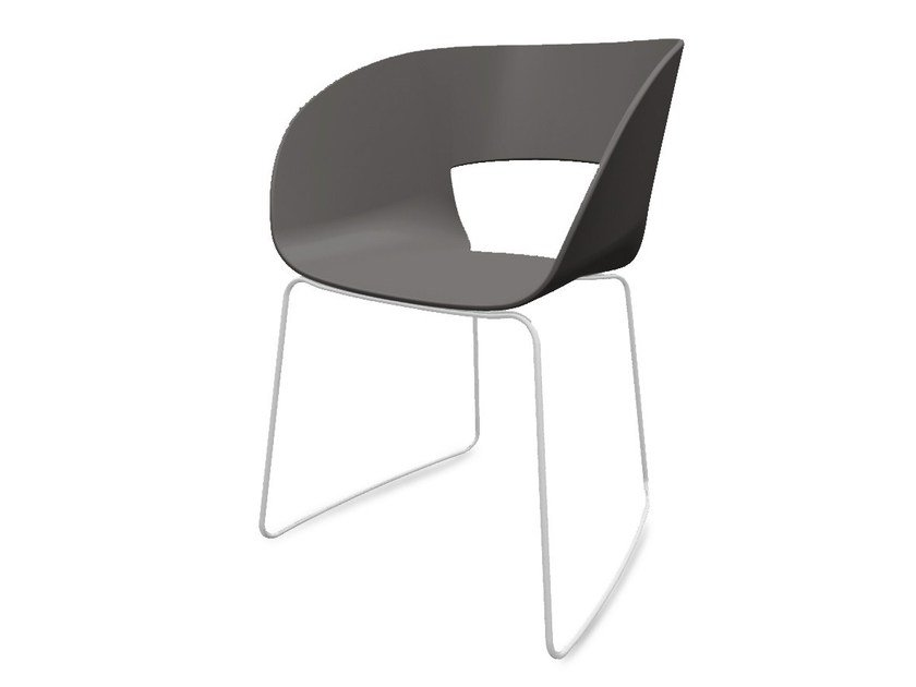 Plastic garden chair VINTAGE | Sled base garden chair by TRIBÙ