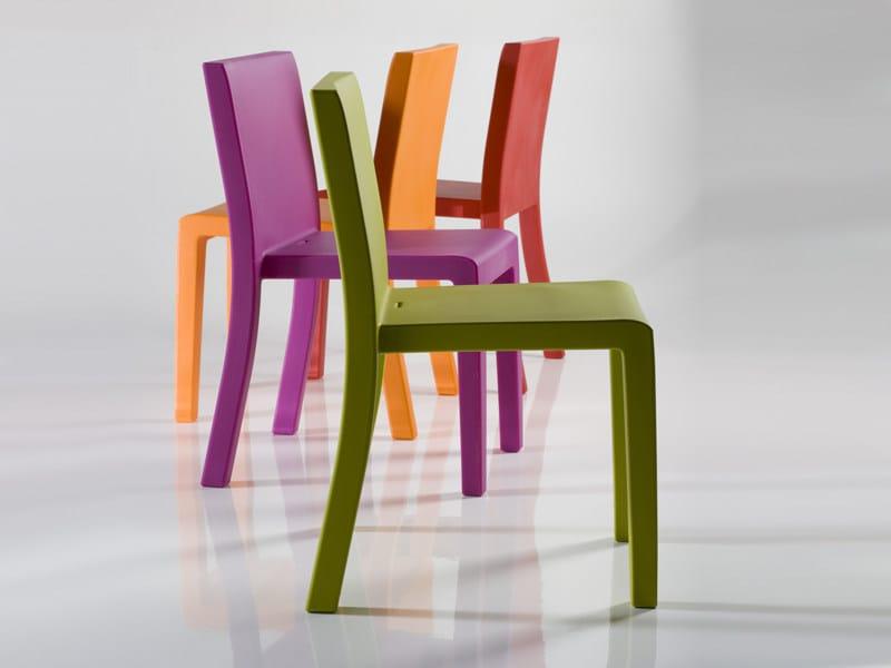 Stackable resin garden chair JUT | Garden chair - VONDOM
