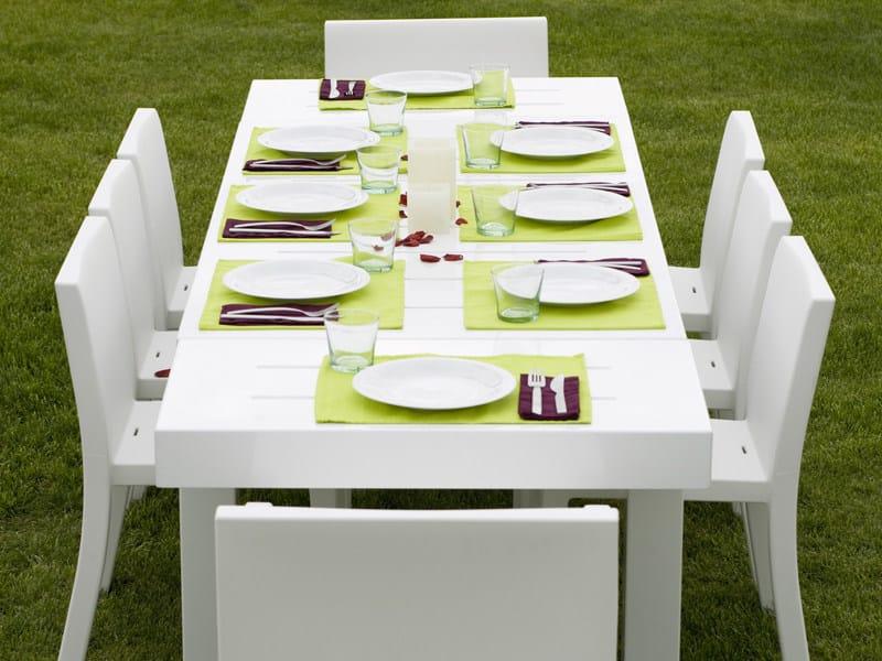 Tavolo da giardino allungabile in resina jut tavolo da for Mobili da giardino resina