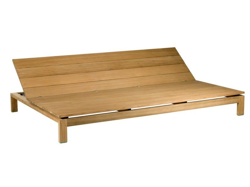 Recliner teak garden bed KOS TEAK | Garden bed - TRIBÙ