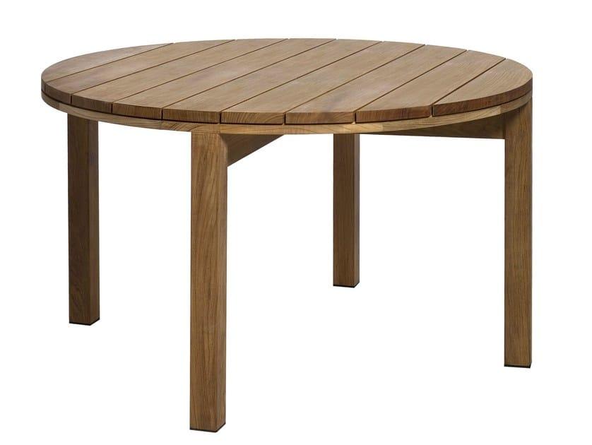 Teak garden table KOS TEAK | Round garden table - TRIBÙ