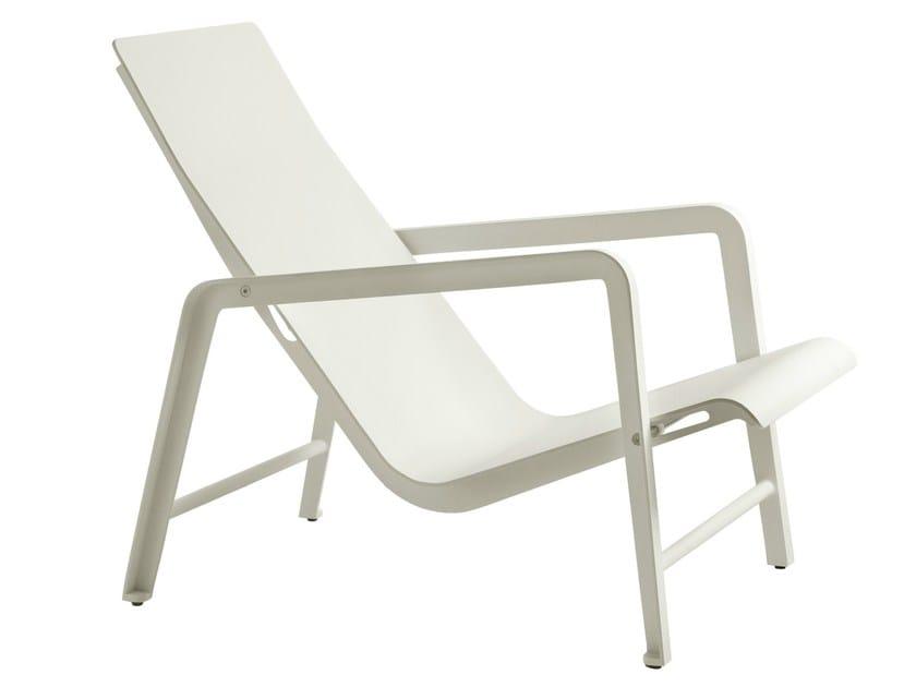 Recliner aluminium deck chair MIRTHE | Deck chair by TRIBÙ