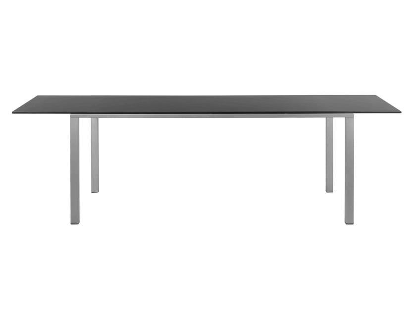 Table de jardin extensible rectangulaire en c ramique for Table exterieur ceramique