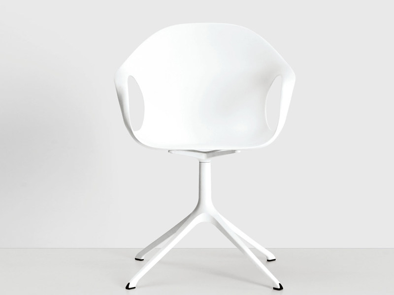 Chair with 4-spoke base with casters - Elephant su trespolo