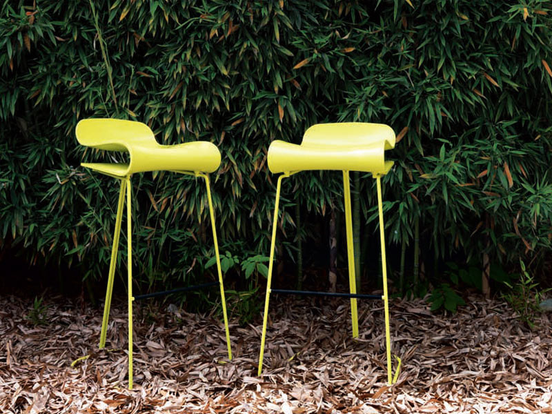 Synthetic material garden stool BCN | Garden stool by Kristalia