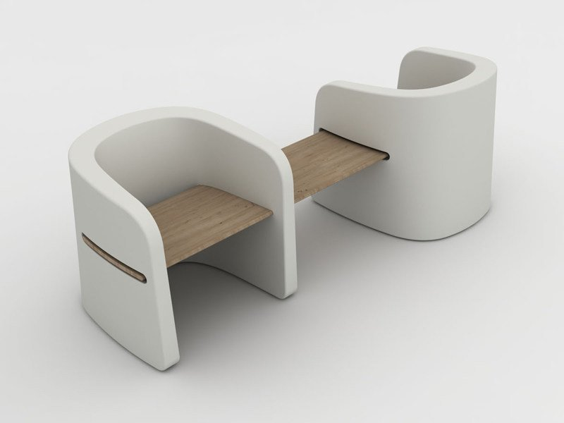 Polyethylene bench TALEA BENCH - PLUST Collection by euro3plast