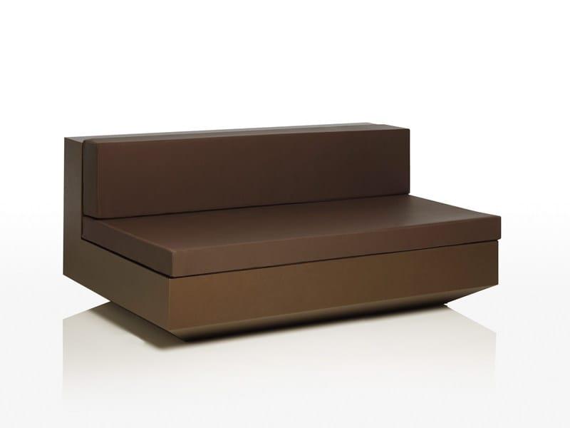Modular polyethylene garden sofa VELA L 160 - VONDOM