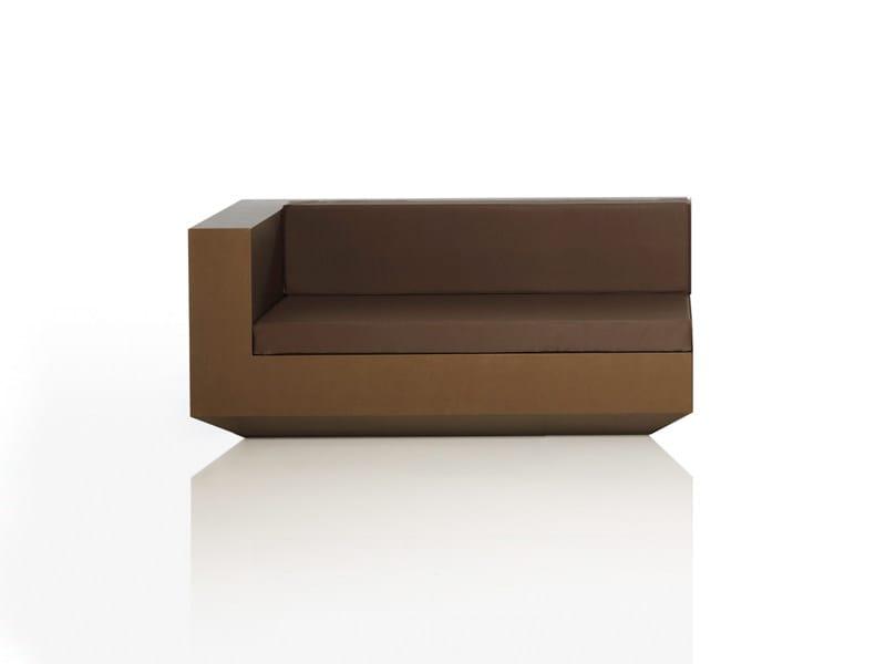 Corner polyethylene garden sofa VELA L | Modular garden sofa - VONDOM