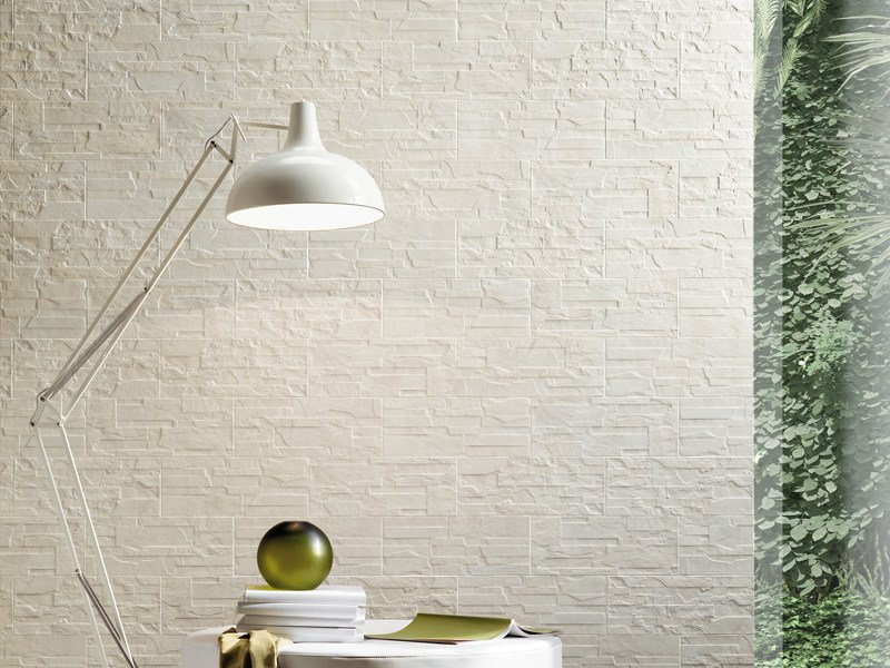 Porcelain stoneware wall tiles with stone effect PAVÈ WALL by Sichenia