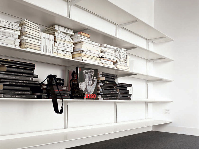 Aluminium bookcase DOT - Kristalia