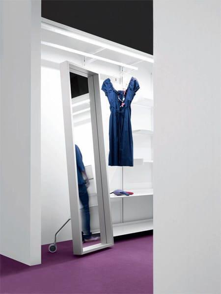 Framed freestanding rectangular mirror