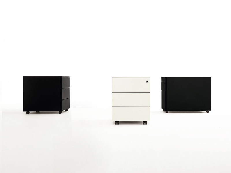 Office drawer unit with casters BUREAU - Kristalia