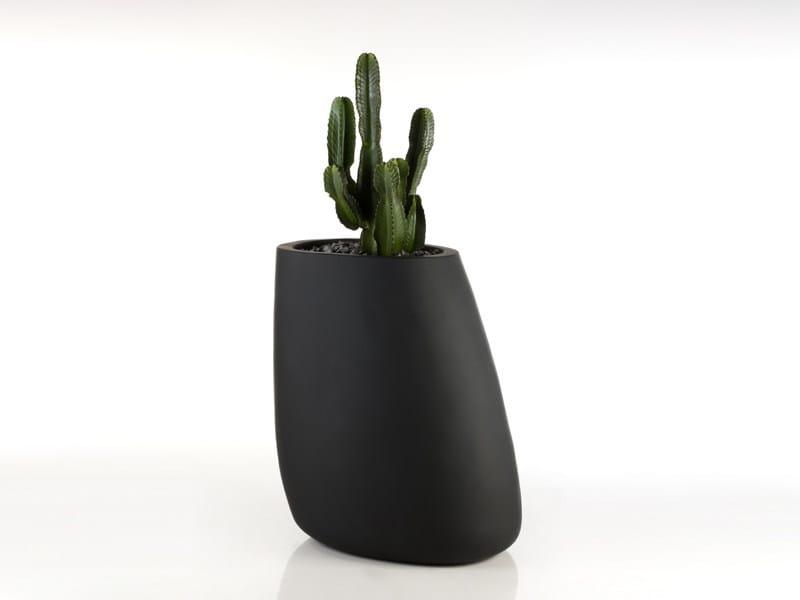 Polyethylene vase with Light STONES 70 - VONDOM