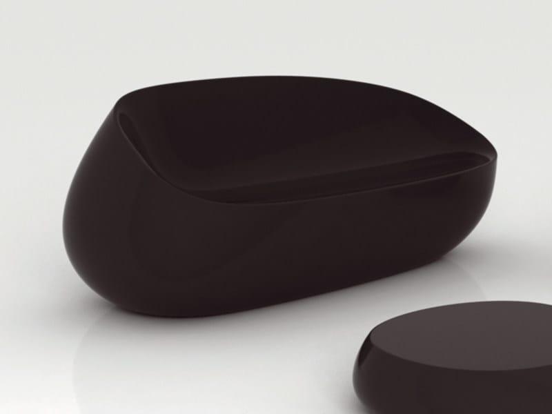 Polyethylene garden sofa STONES | Garden sofa - VONDOM
