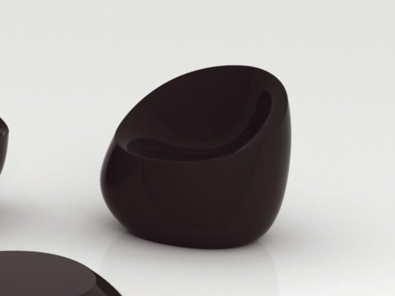 Polyethylene garden armchair STONES | Garden armchair - VONDOM