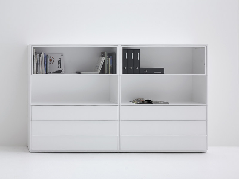 Modular highboard with drawers WHITECASE - MDF Italia