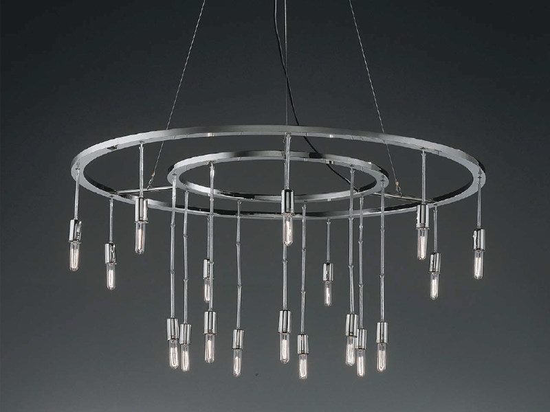 Chromed brass chandelier VAGUE STELLE by BD Barcelona Design