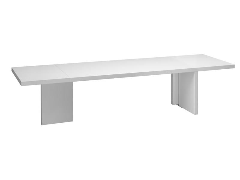 Extending rectangular wooden table ISAAC - e15