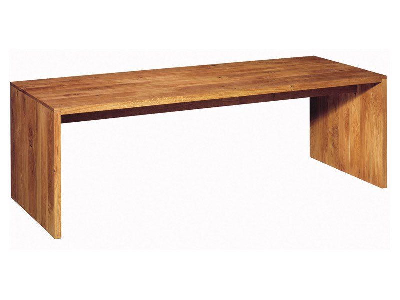 Bureau table en bois massif ponte by e15 design philipp for Table de bureau