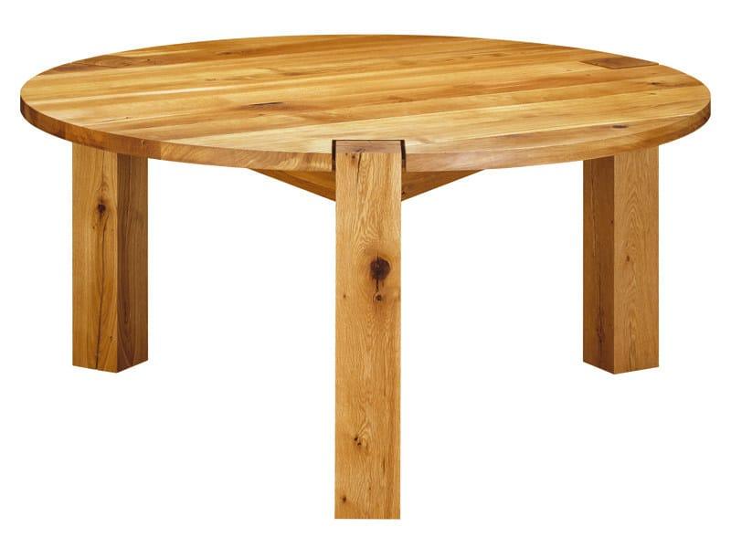 Tavolo rotondo in legno ta11 tondo by e15 design philipp for Tavolo tondo legno
