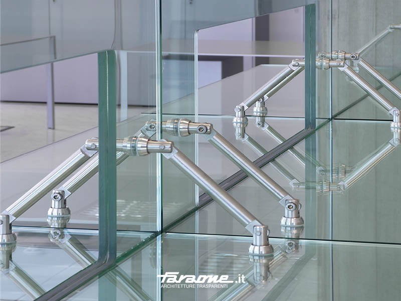 Universal accessories for coupling of glass plates Universal accessories - FARAONE